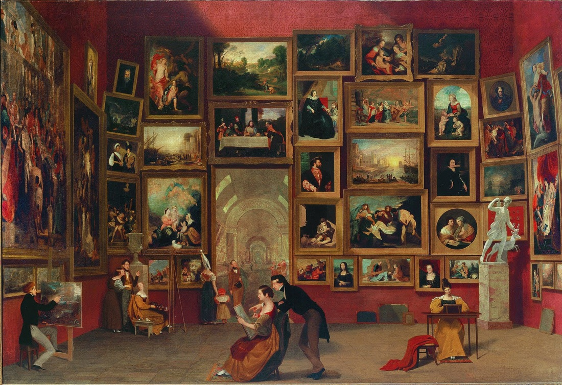 Gallery of the Louvre, 1831, Samuel F.B. Morse